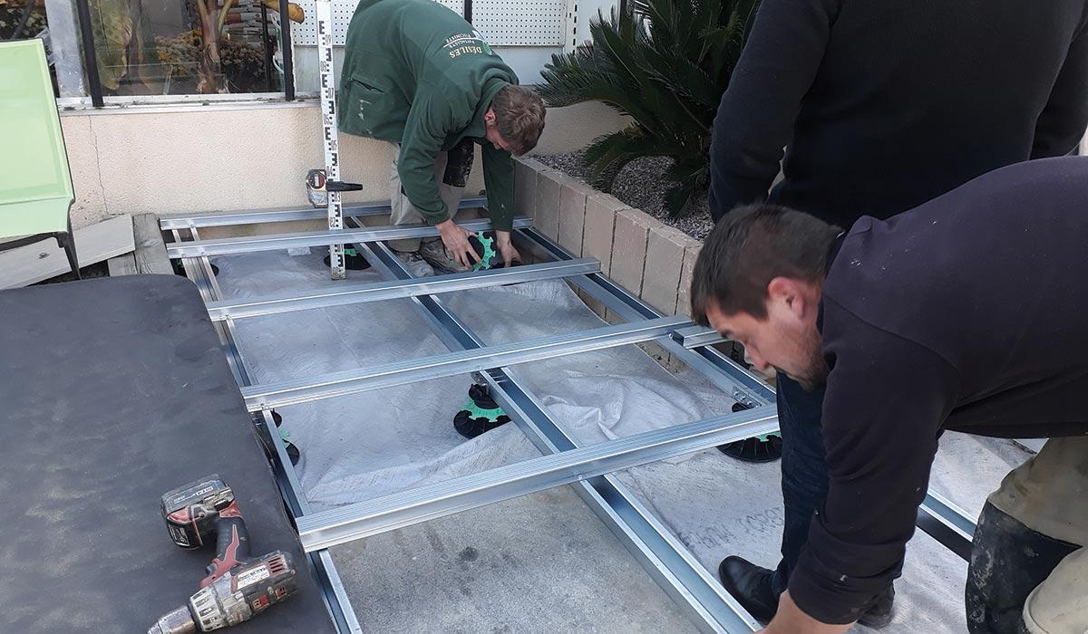 Ossature Métallique Pour Terrasse Bois 12 collaborateurs formés aux terrasses à ossature métallique