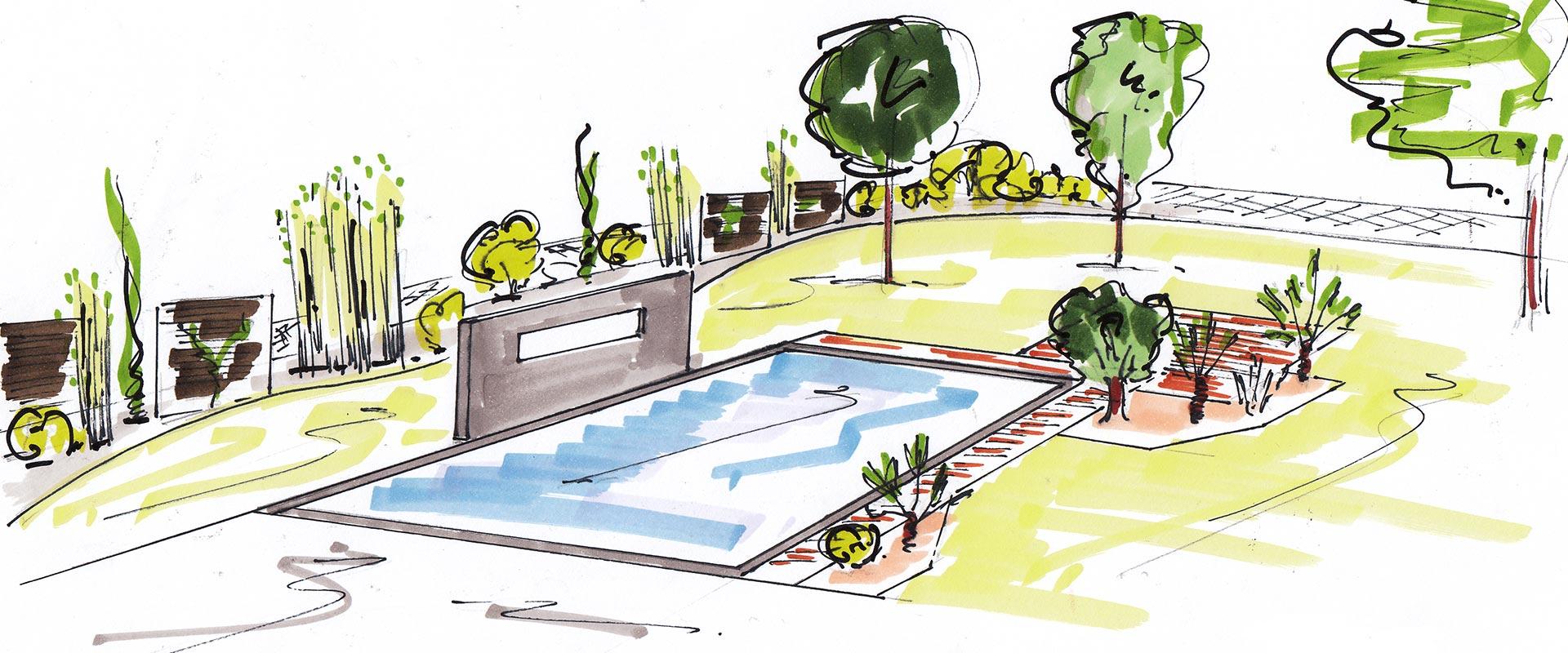 bureau d 39 tude plans de jardin croquis 3d d siles paysage. Black Bedroom Furniture Sets. Home Design Ideas